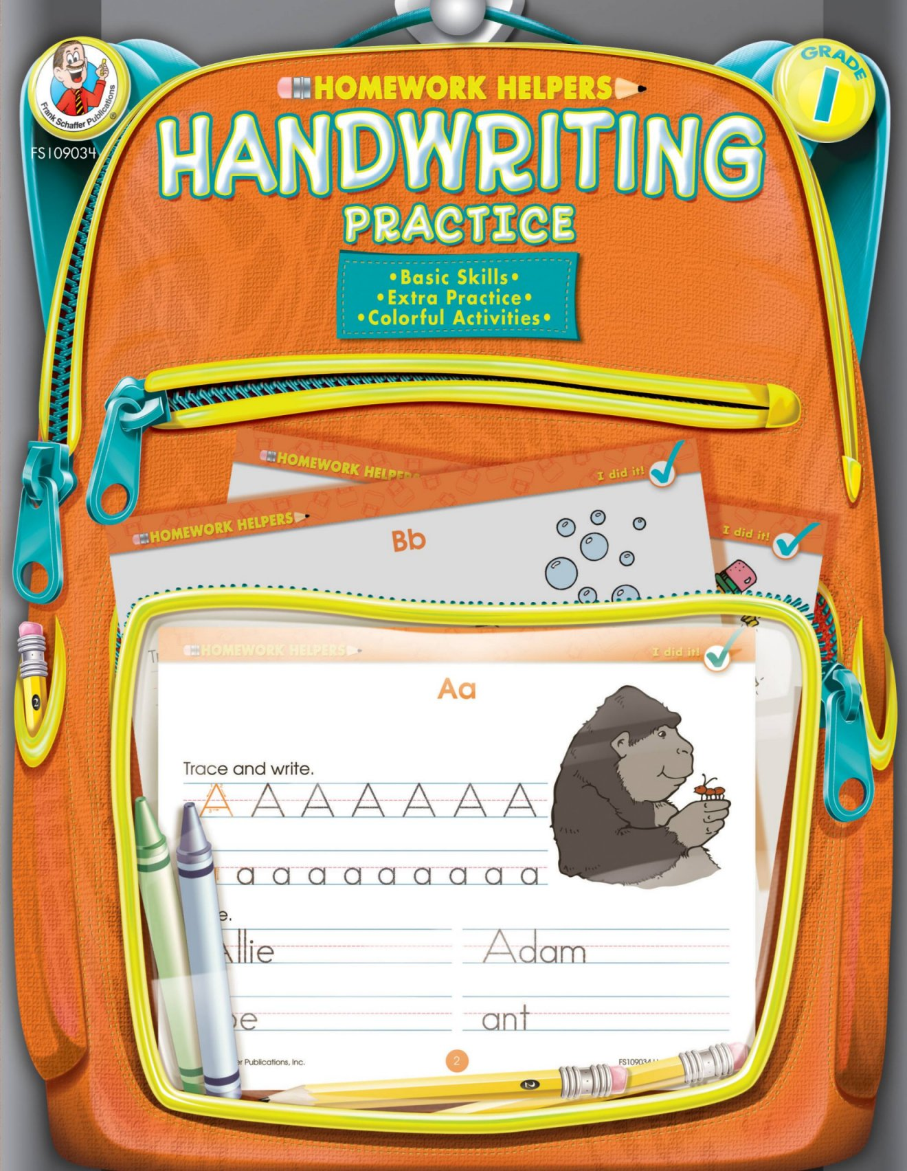 Homework Helper Handwriting Practice, Grade 1 By Frank Schaffer Publications (COR)